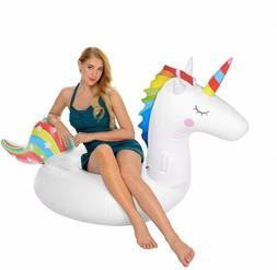 Unicorn Inflatable Pool Floats Adults Kids, Outdoor Indoor V