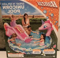 Unicorn Inflatable Seimming Pool with Slide New Ships Today!