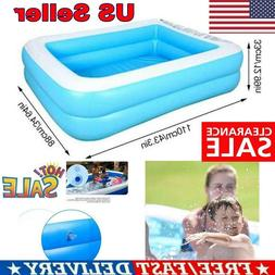US Inflatable Swimming Pool Family Kids Adults Garden Playin