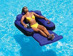 "55"" Water Sports Blue and Black Inflatable Ultimate Floating"