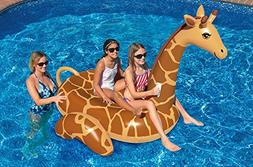 8' Water Sports Inflatable Giant Giraffe Swimming Pool Ride-