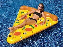 "72"" Inflatable Pizza Slice Novelty Swimming Pool Float Raft"