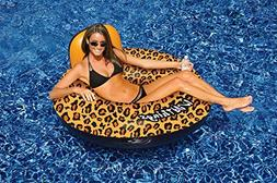 "40"" Water Sports Wildthings Inflatable Cheetah Print Swimmin"