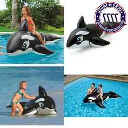 """Intex Whale Inflatable Pool Ride-On, 76"""" X 47"""", For Ages 3+"""