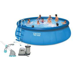 """Intex 18' x 48"""" Easy Set Above Ground Pool with Pump & Krill"""