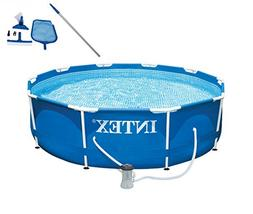 "Intex 10' x 30"" Metal Frame Set Swimming Pool with Filter Pu"