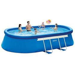 Intex 18ft X 10ft X 42in Oval Frame Pool Set with Filter Pum