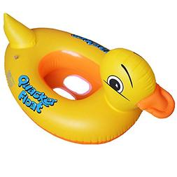 Sealive Yellow Duck Inflatable Pool Float , Summer Swimming