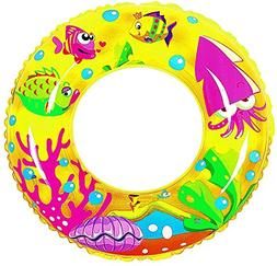 "24"" Yellow Sea Fish Children's Inflatable Swimming Pool Inne"